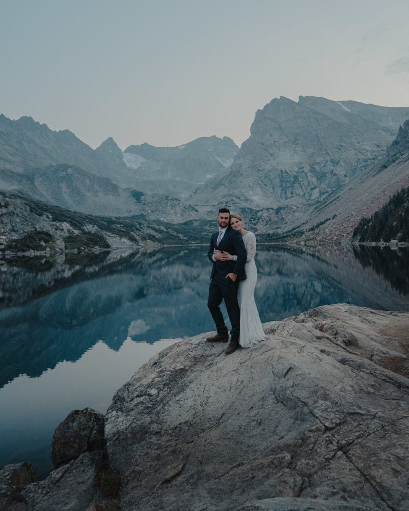 Couple Eloping in Colorado After Sunset